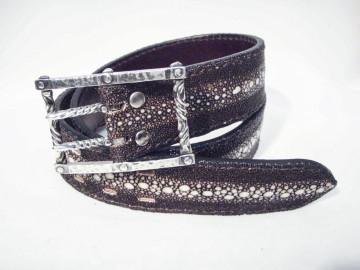 belt silver × stingray